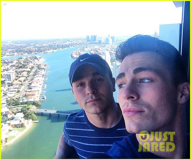 colton haynes giant pecs take over this shirtless pic 093099999
