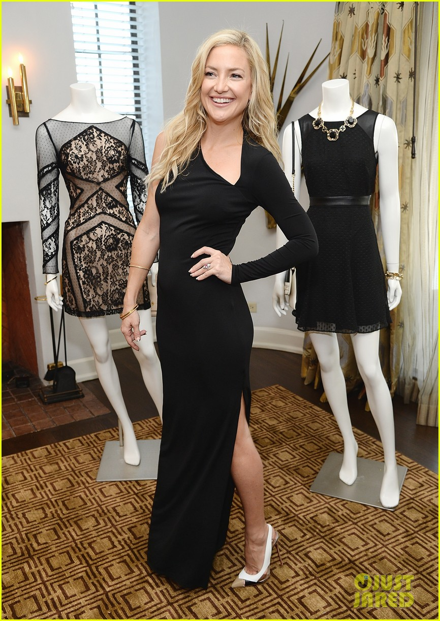 kate hudson sleek chic for anne taylor little black dress collection 06