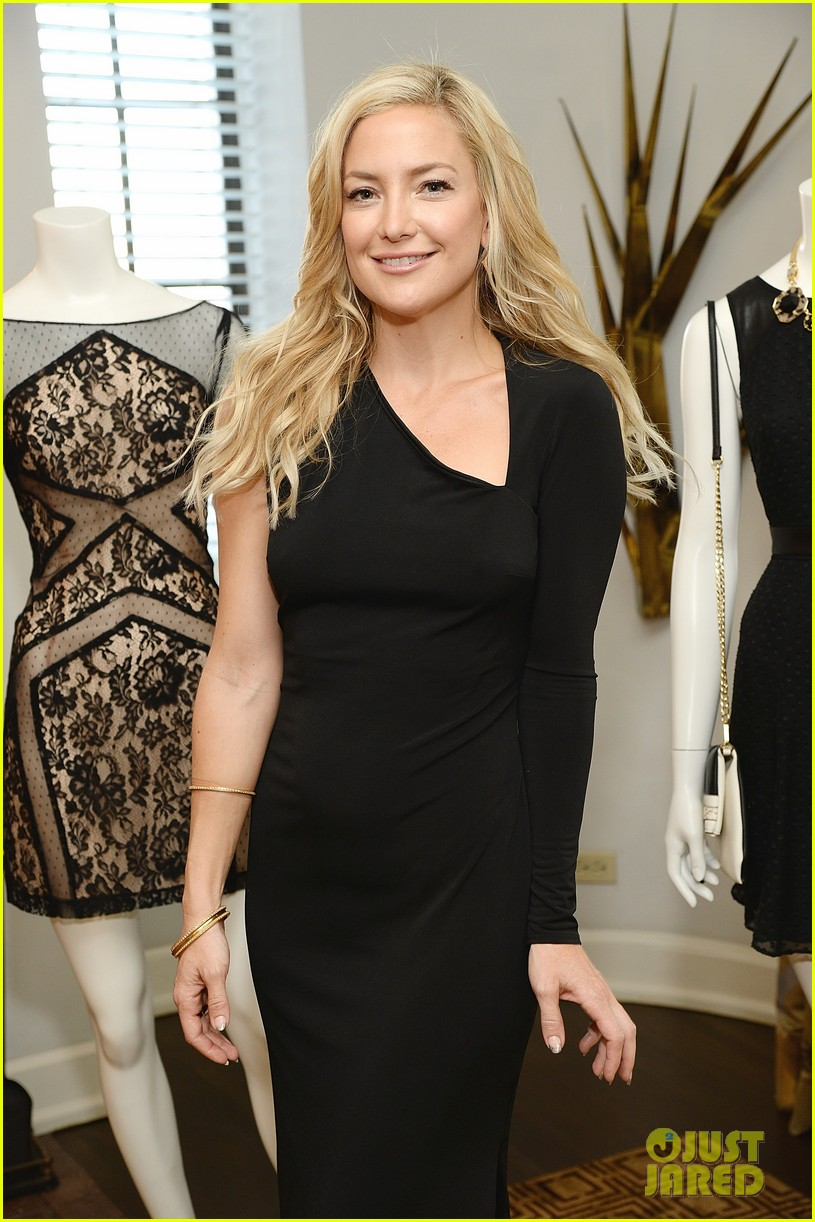 kate hudson sleek chic for anne taylor little black dress collection 113087508