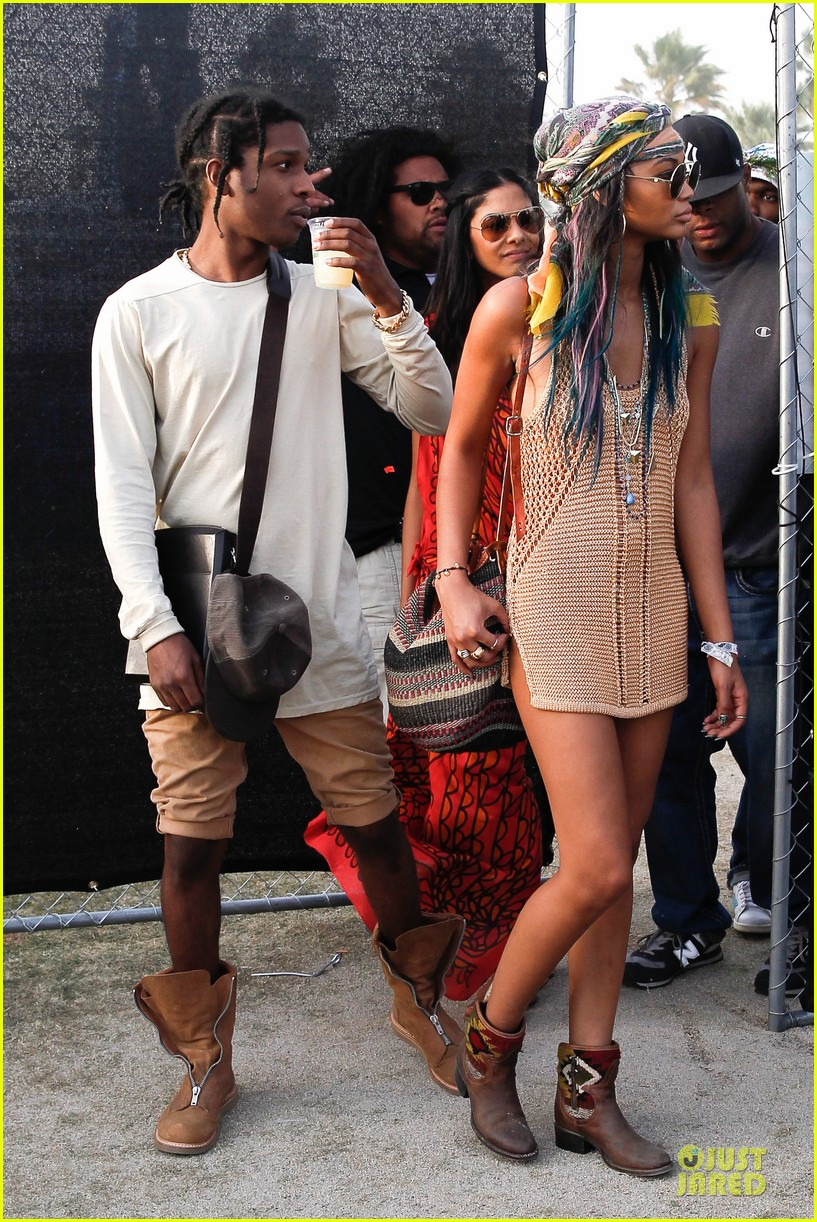 chanel iman asap rocky relaxes at coachella 07