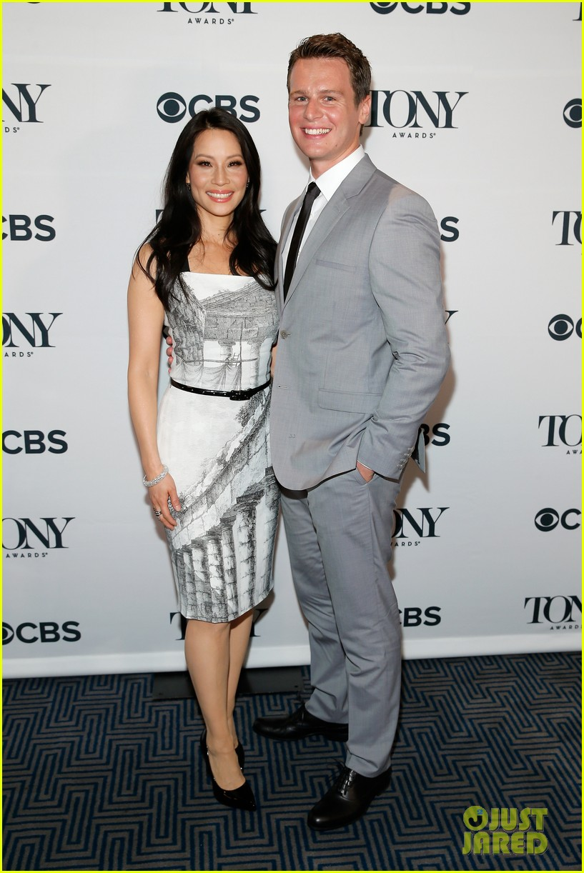 hugh jackman surprises jonathan groff lucy liu at tony awards announcements 15
