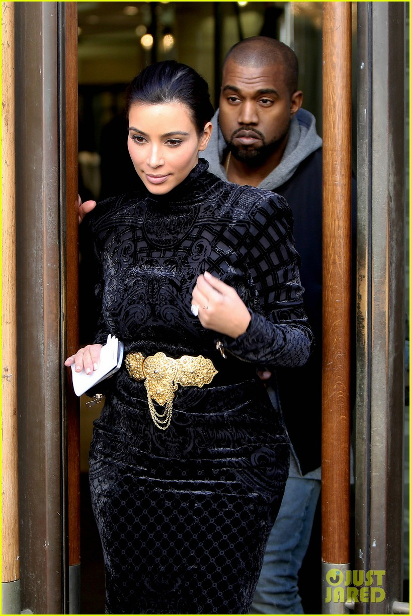kim kardashian changes into two different dresses 043091979