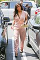 kim kardashian rocks pink jumpsuit with totally sheer back 28