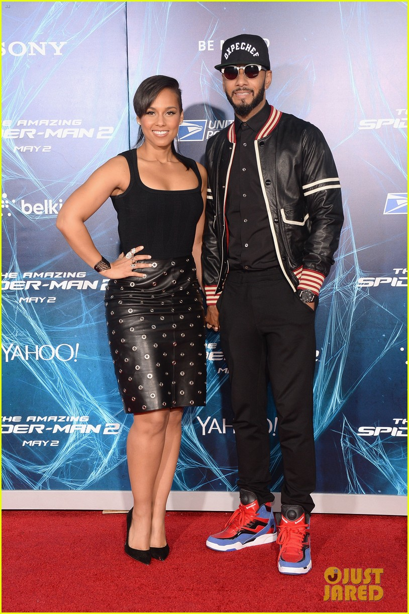 alicia keys pharrell williams amazing spider man 2 premiere 15