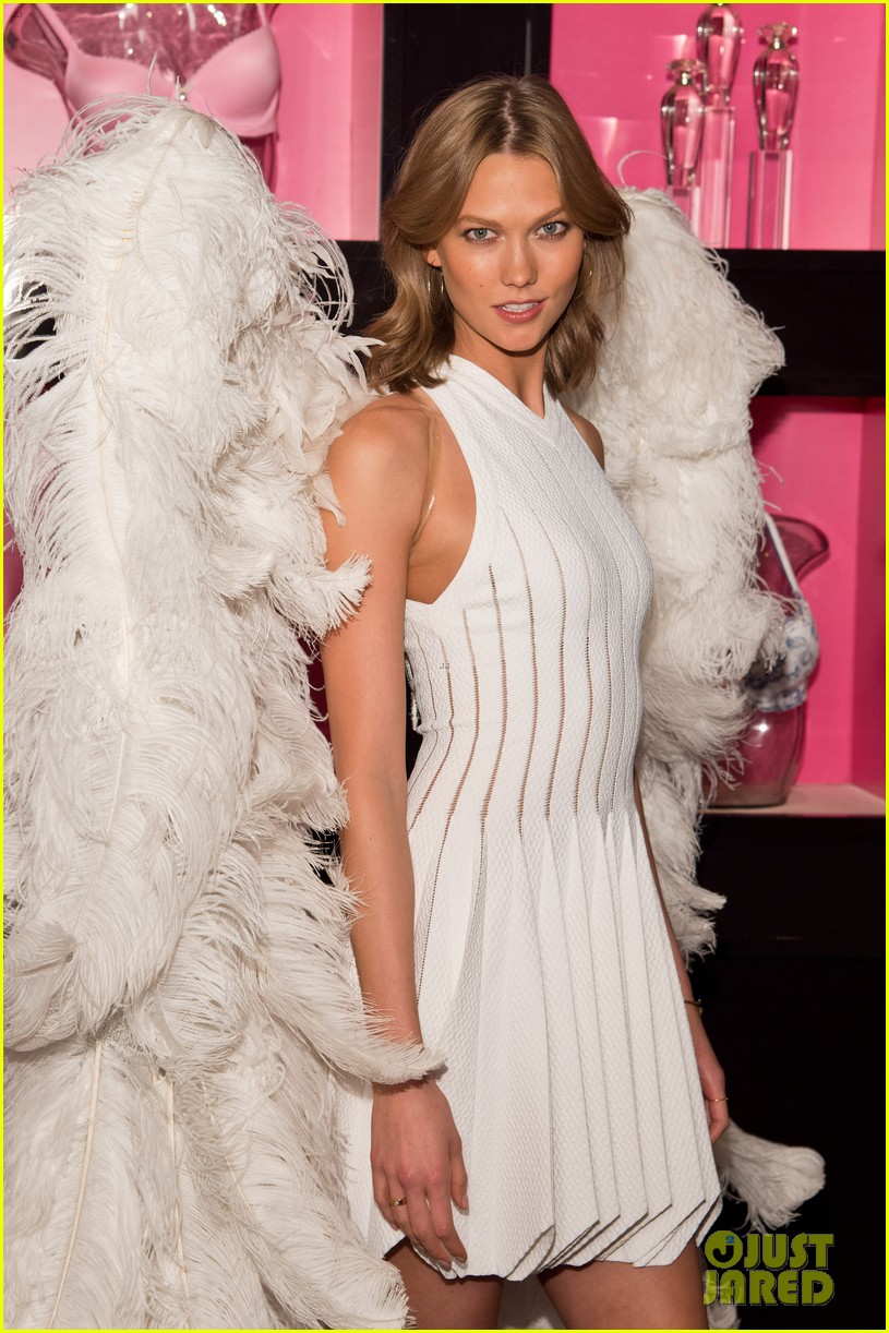 karlie kloss spreads her wings at victorias secret heavenly launch 043102211