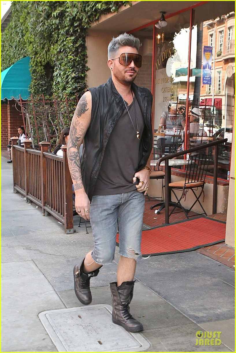 adam lambert tattooed guns sight you can miss 06