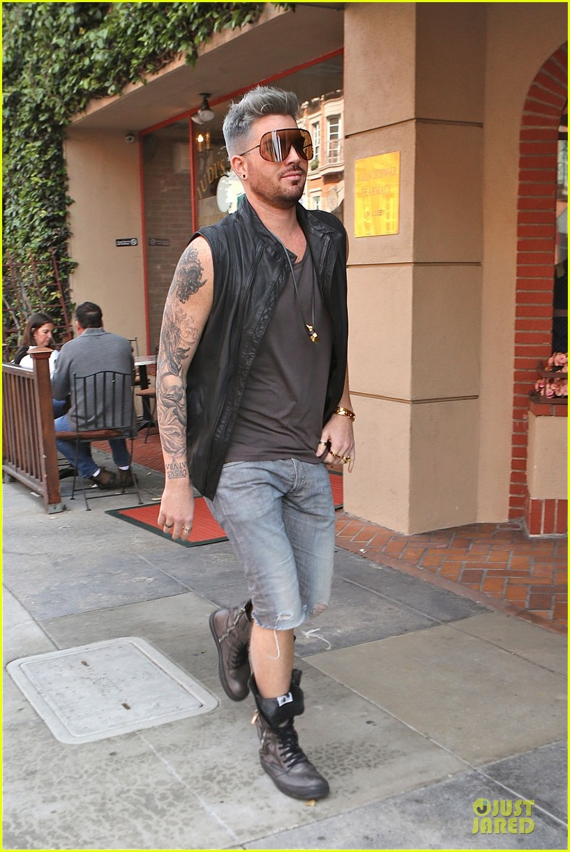 adam lambert tattooed guns sight you can miss 14