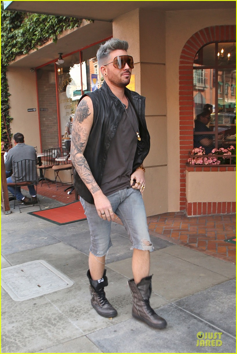 adam lambert tattooed guns sight you can miss 15