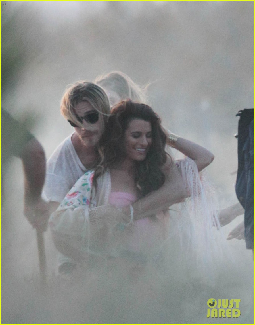 lea michele cozy co star music video set 063095712