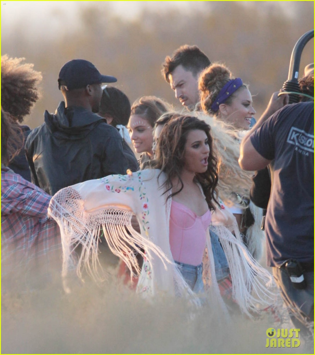 lea michele cozy co star music video set 25