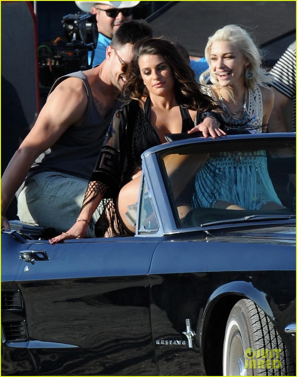 lea michele bikini on my way music video shoot 10