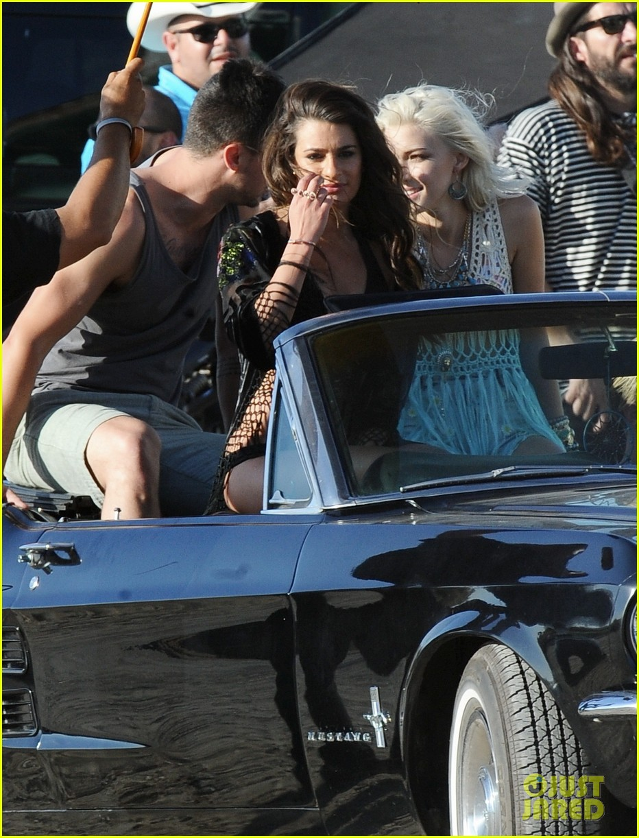 lea michele bikini on my way music video shoot 203095568