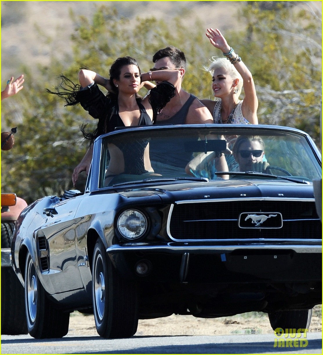 lea michele bikini on my way music video shoot 30