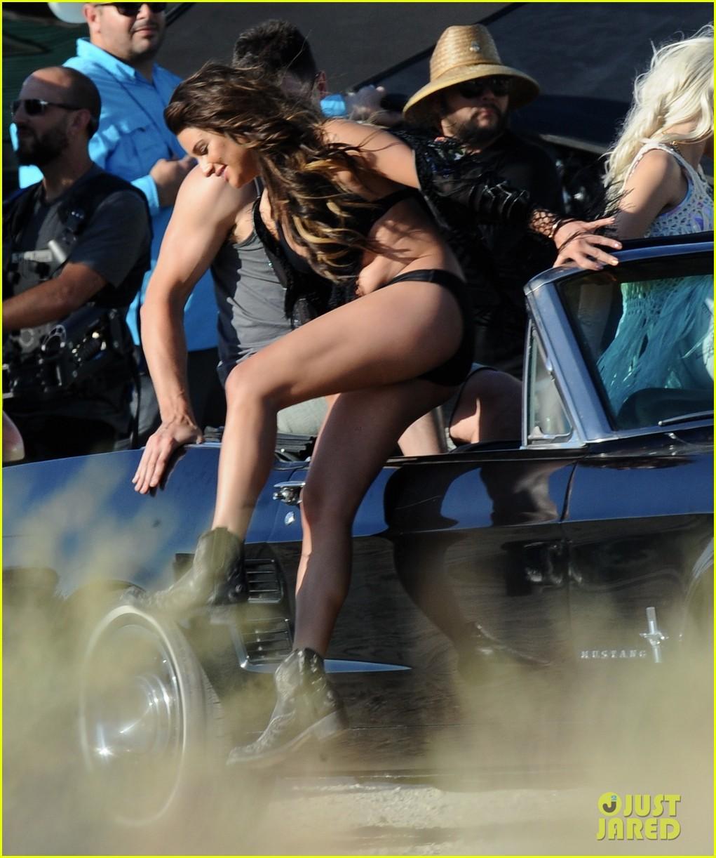 lea michele bikini on my way music video shoot 49