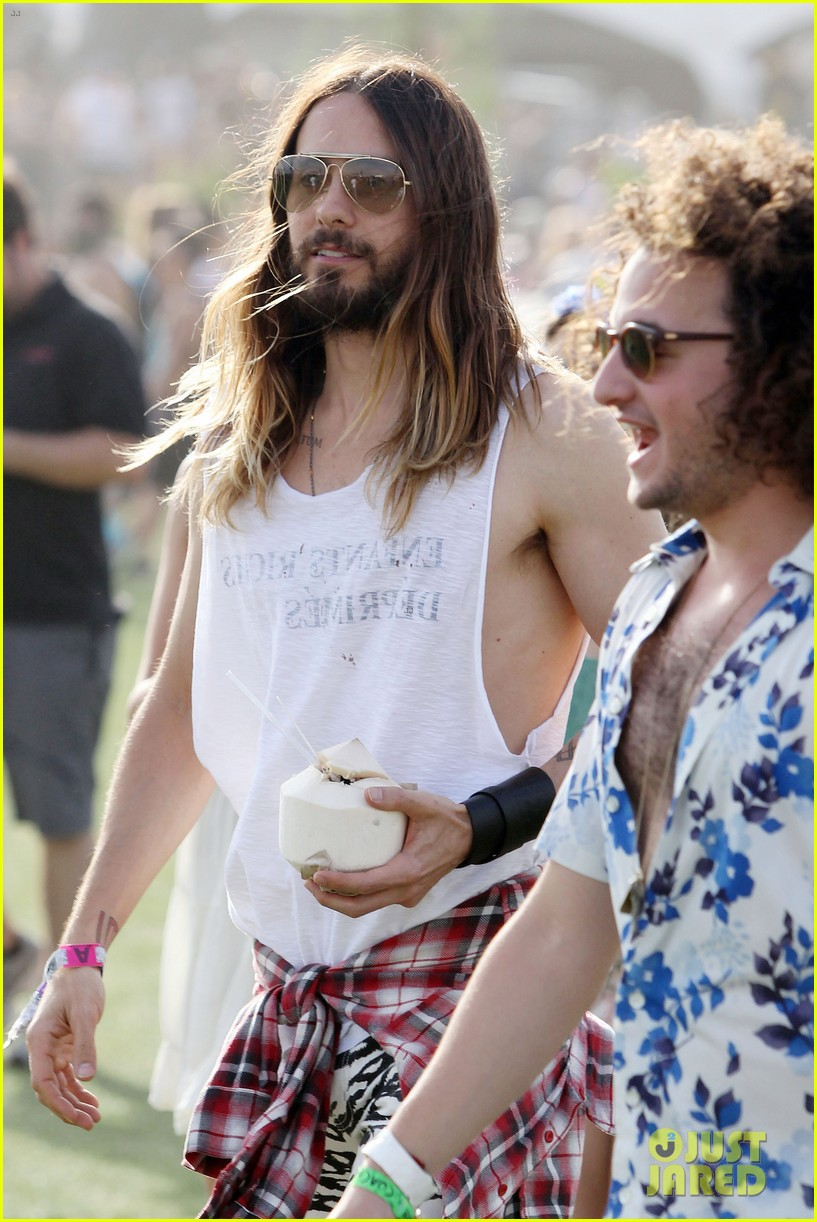 jared leto zebra print pants coachella day two 02