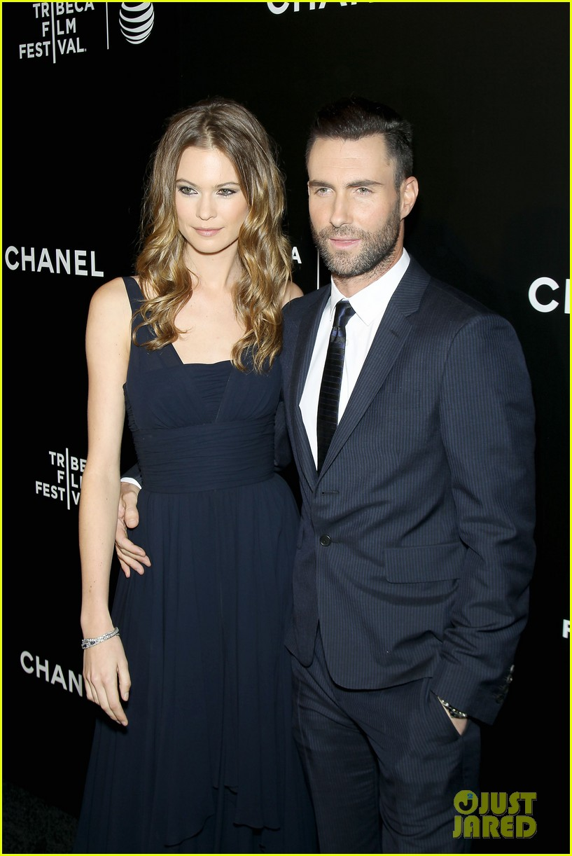 adam levine behati prinsloo party the night away at tribeca 16
