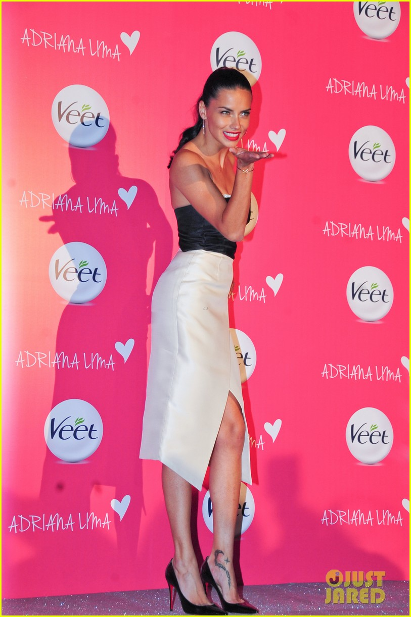 adriana lima drop dead gorgeous at veet launch 053086067