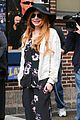 lindsay lohan brings music letterman 11