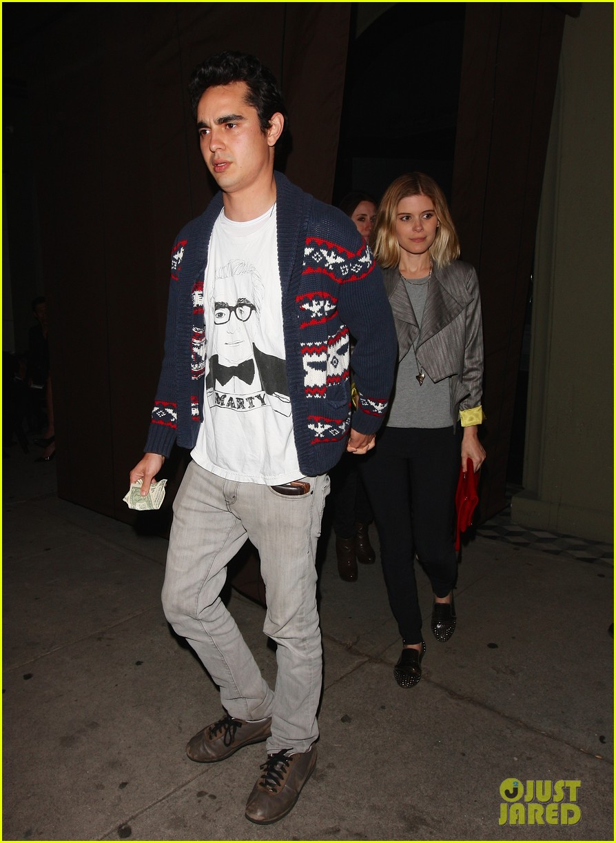 kate mara holds hands with boyfriend max minghella dinner 01