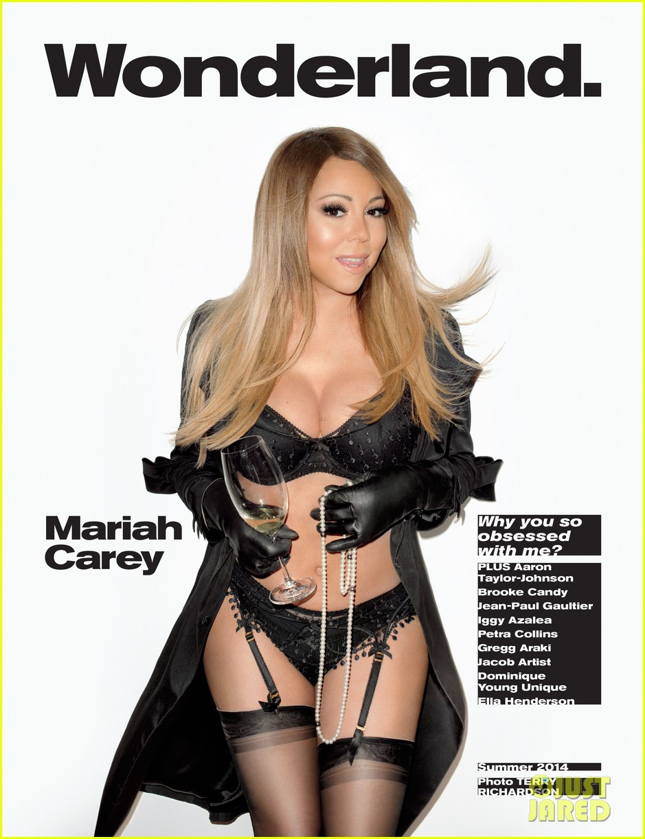 mariah carey is all decked out in lingerie for wonderland 01