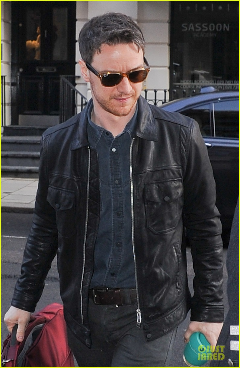 james mcavoy serious swagger in leather 02