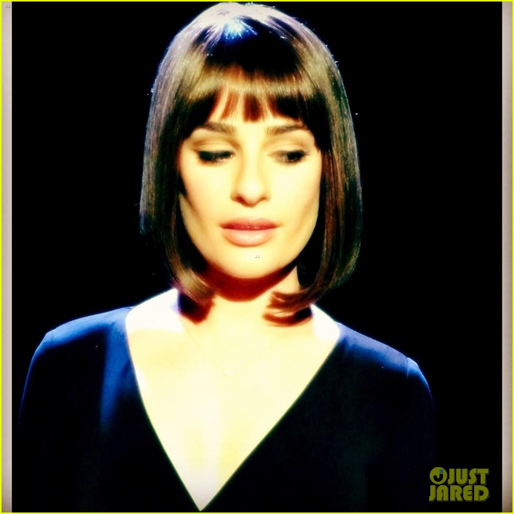 lea michele performs funny girl on stage 16
