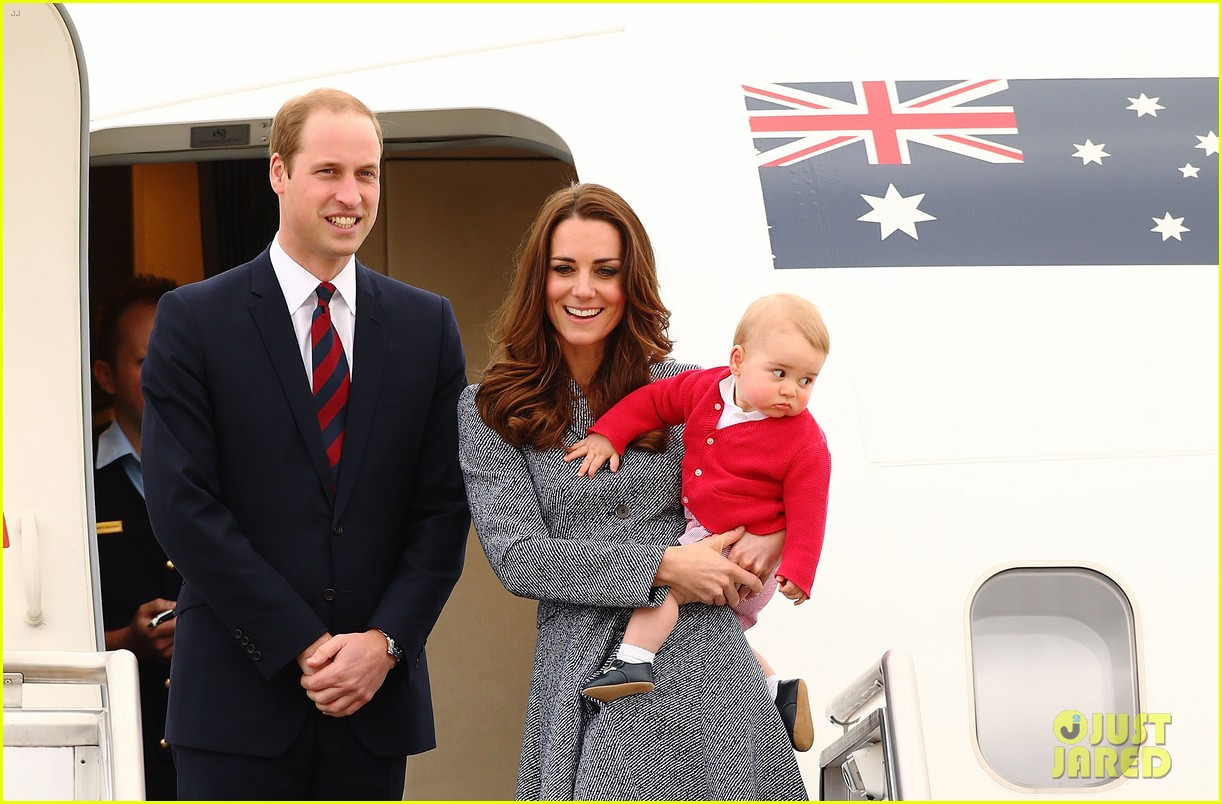 kate middleton prince william prince george say goodbye to australia 33