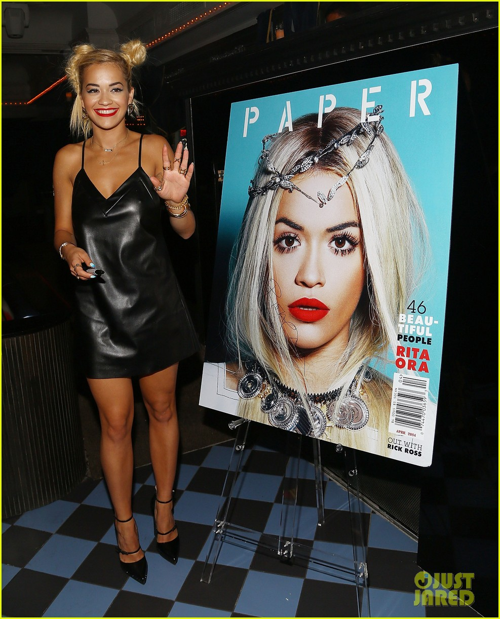 rita ora wears basketball print jacket 13
