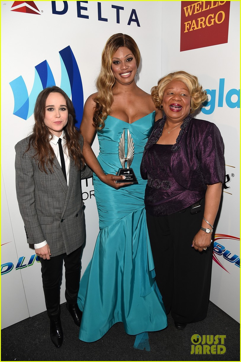 ellen page laverne cox glaad media awards 2014 17
