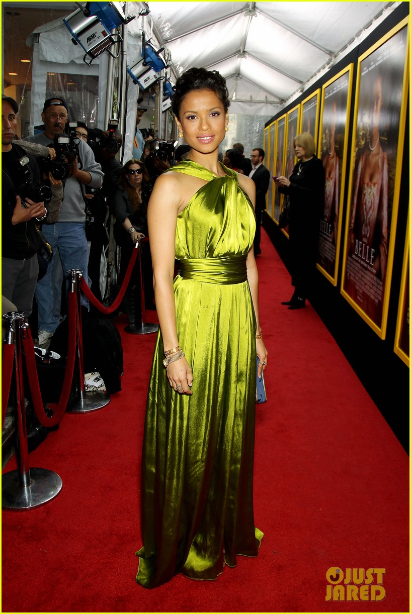 gugu mbatha raw is a green goddess at belle premiere 073101061