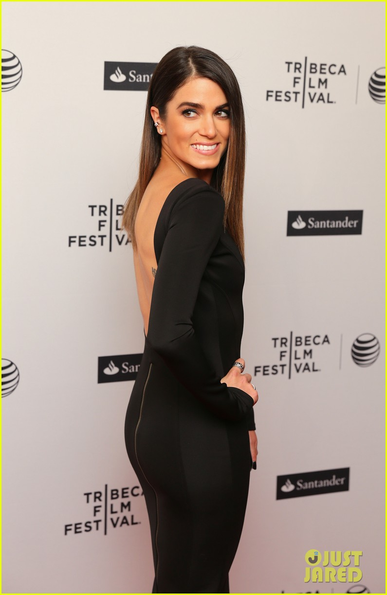 nikki reed wears a tight black dress looks amazing at tribeca premiere 08