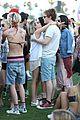 emma roberts evan peters kiss at coachella 19