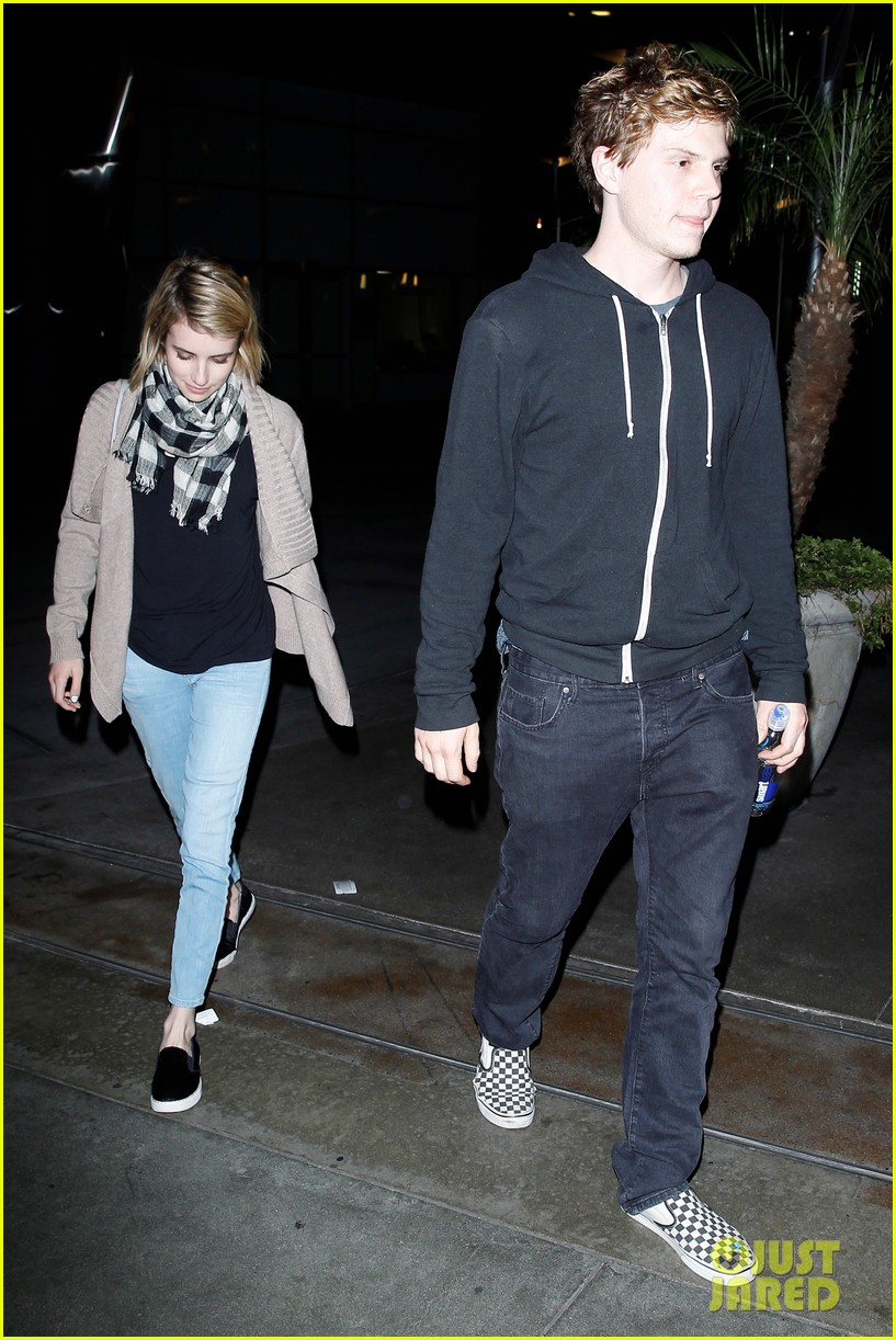 emma roberts evan peters havent started wedding planning just yet 083082915