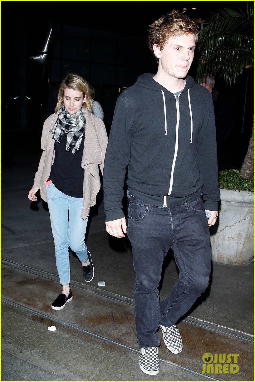 emma roberts evan peters havent started wedding planning just yet 10
