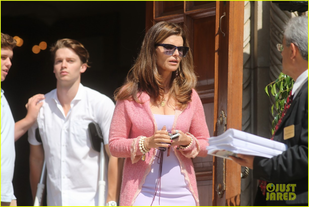 patrick schwarzenegger crutches easter sunday 103096346