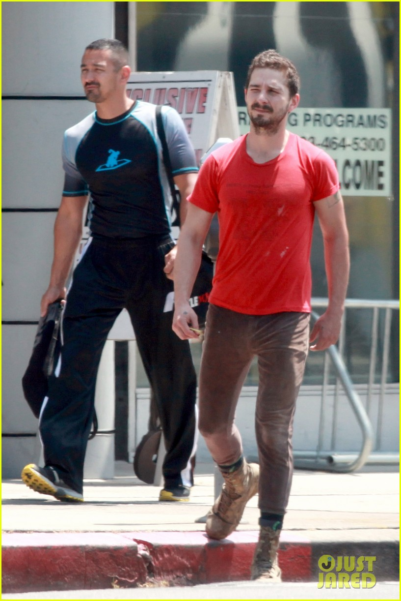 shia labeouf wears one of his favorite outfits for gym workout 053097433