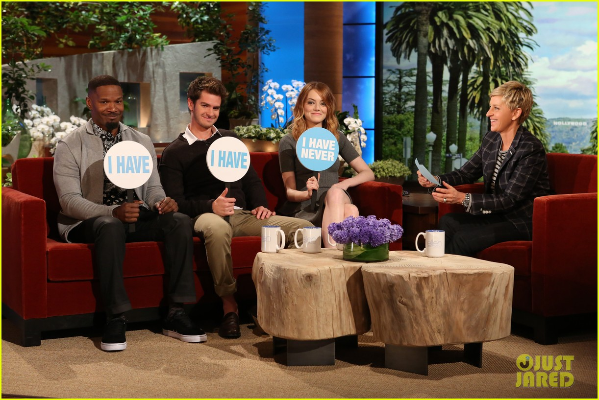 andrew garfield emma stone never have i ever ellen 03
