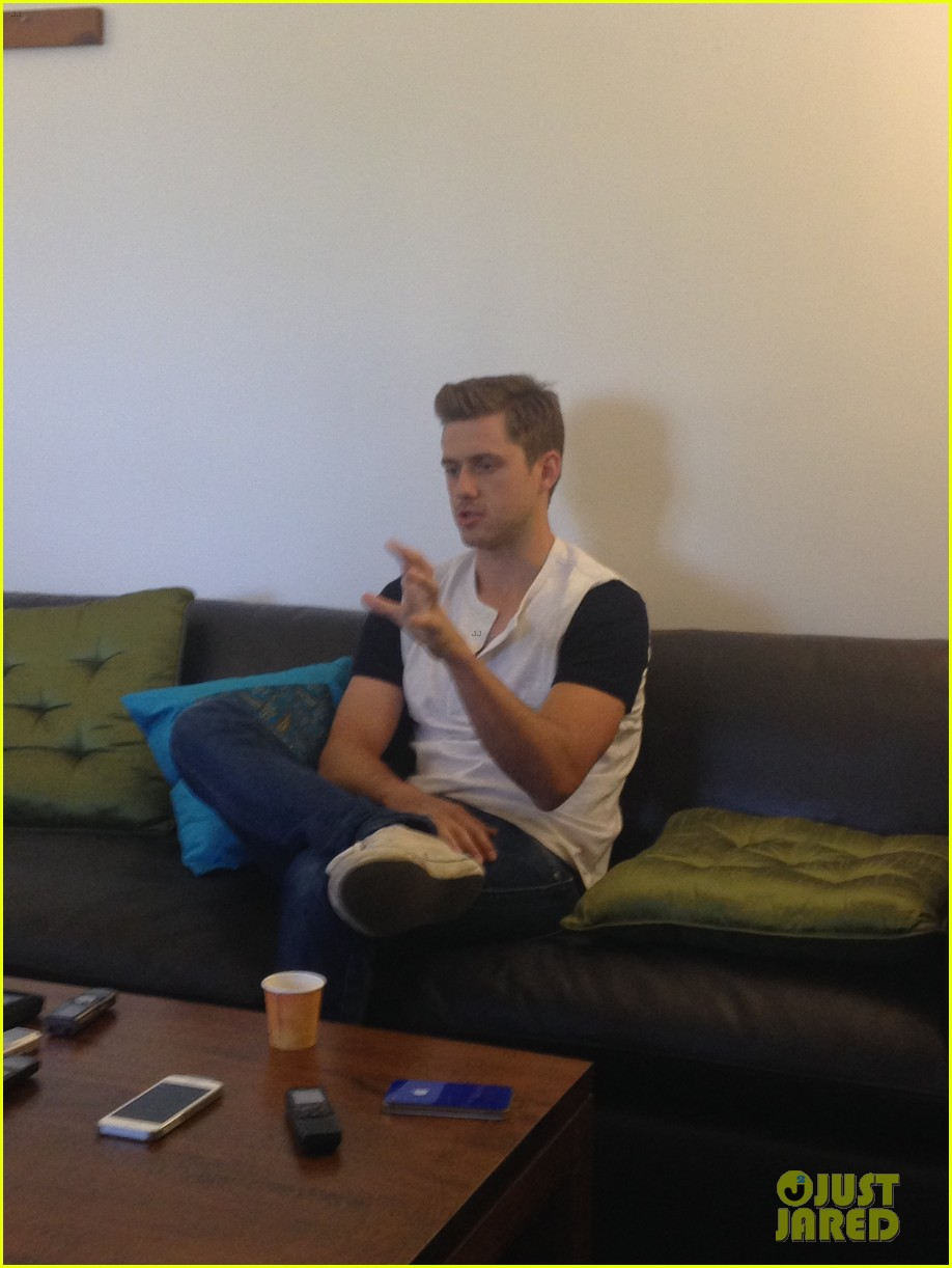aaron tveit dishes on broadway return 04