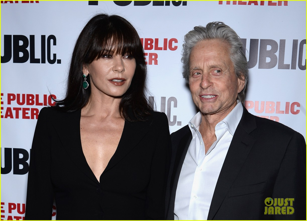 catherine zeta jones michael douglas rare red carpet appearance 103092885