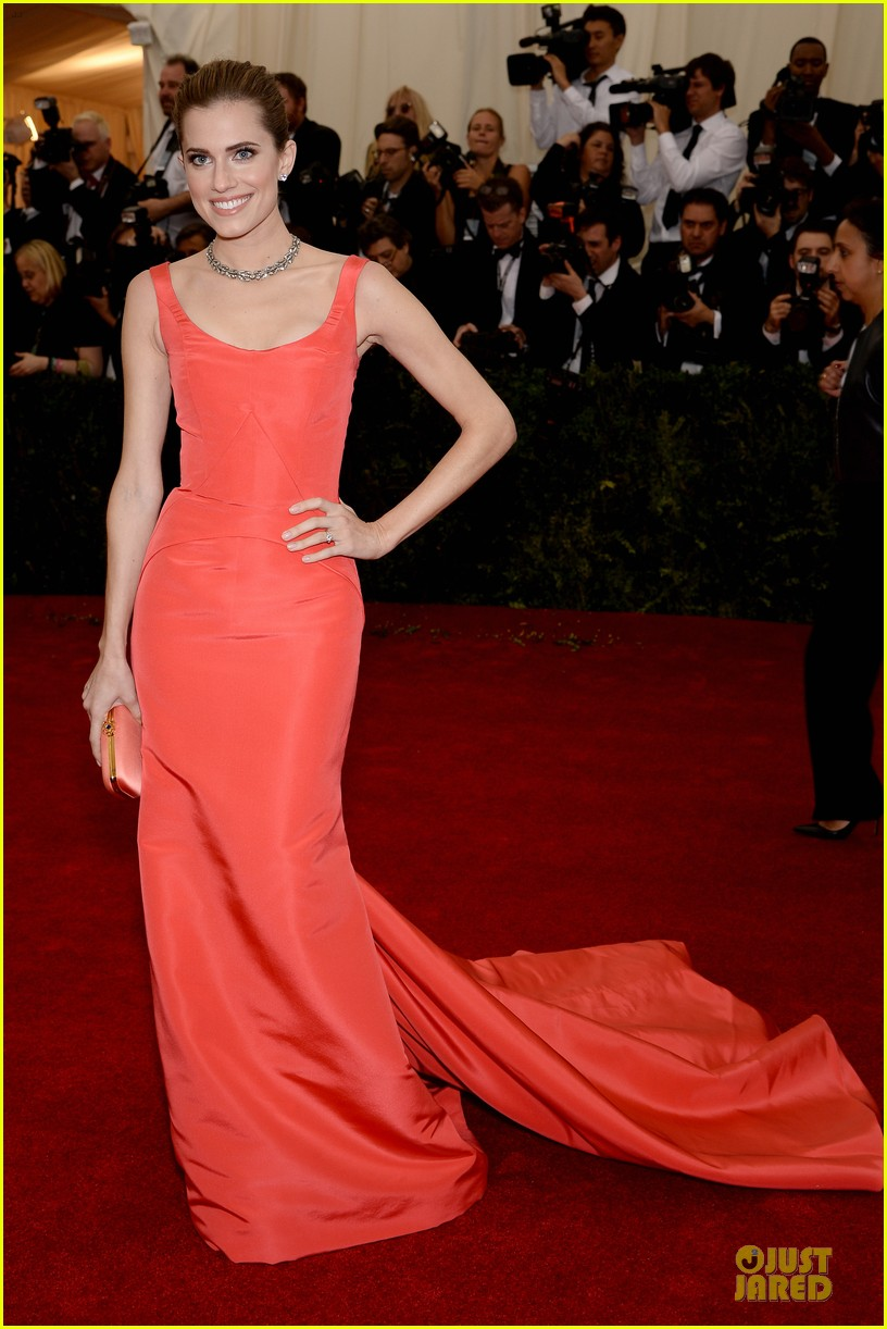allison williams smashing red at met ball 2014 03