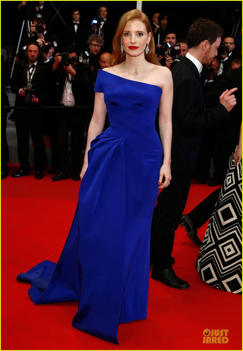 jessica chastain blue at disappearance of eleanor rigby cannes premiere 013115727
