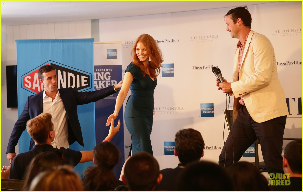 jessica chastain inspiring to students at cannes 03