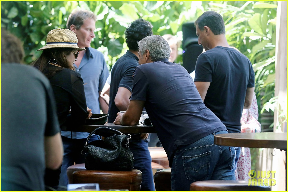 George Clooney & Amal Alamuddin Celebrate Their Engagement Surrounded By Celebrity Friends! George-clooney-celebrates-engagement-to-amal-alamuddin-surrounded-by-celebrity-pals-10