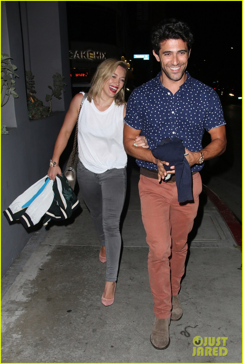 hilary duff hits the town with stylist marcus francis 013124575