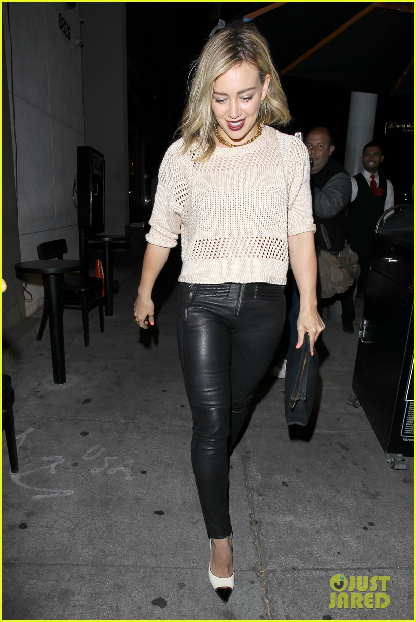 hilary duff shares adorable pic luca night out friends 053122068