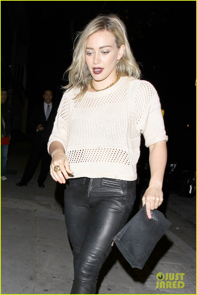 hilary duff shares adorable pic luca night out friends 083122071