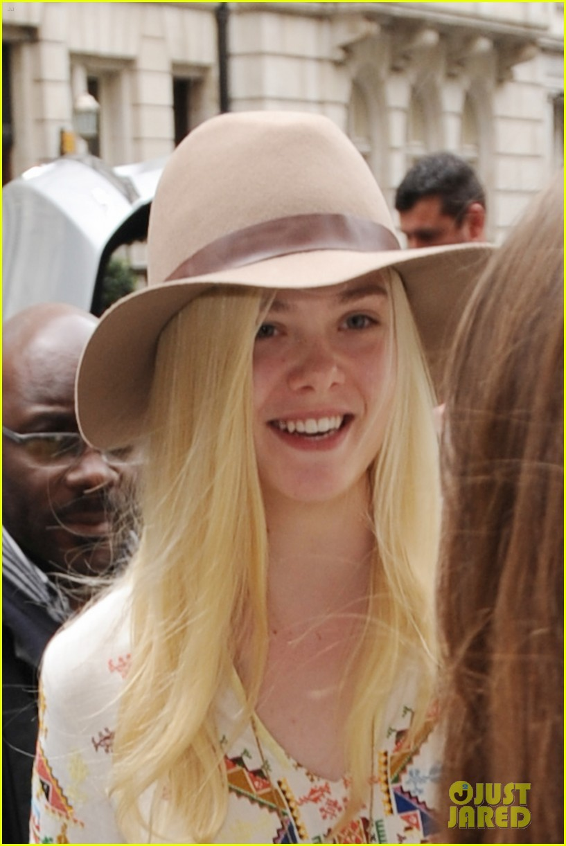 elle fanning looks like royalty at maleficent private reception 103108707