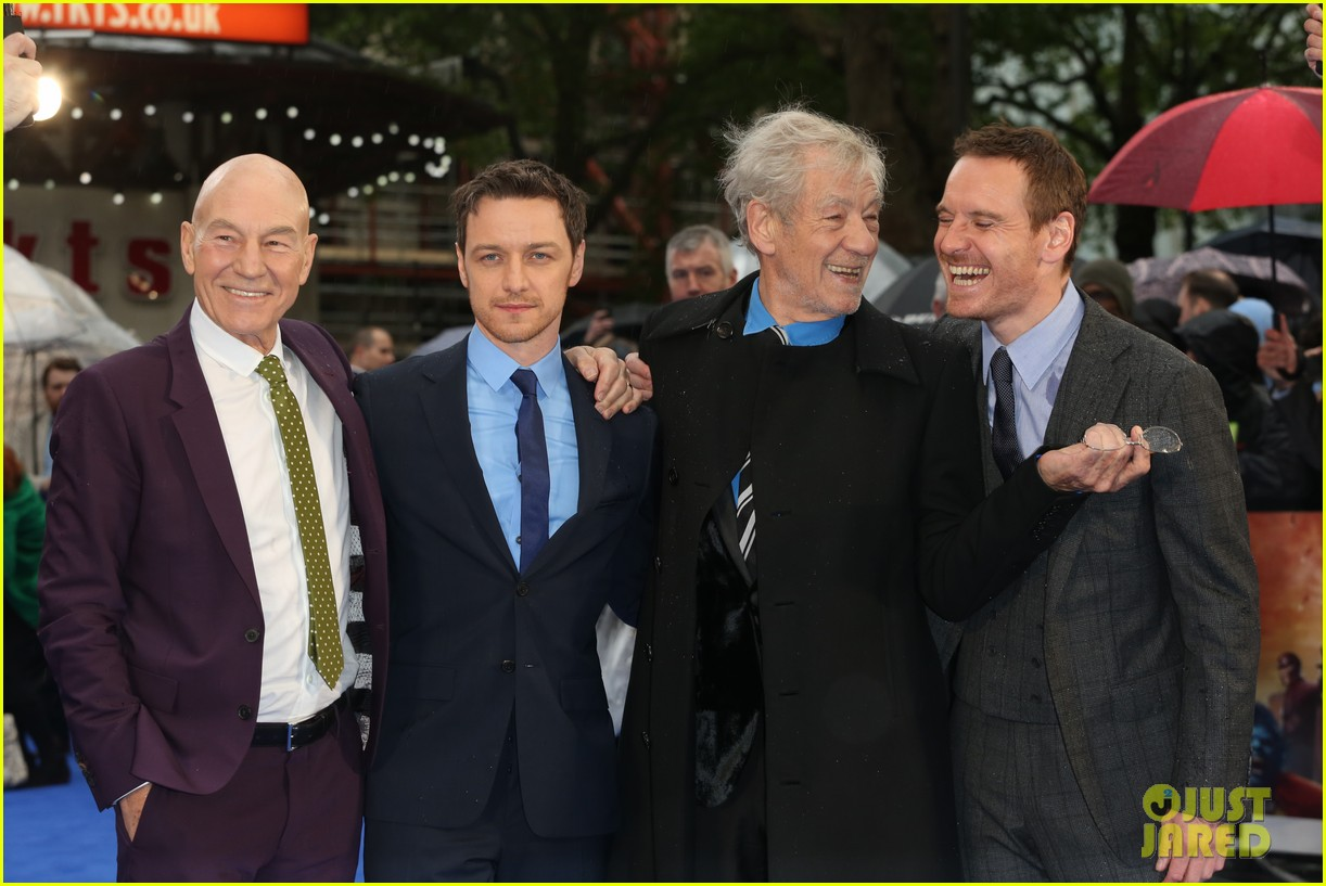 michael fassbender james mcavoy x men london premiere 06