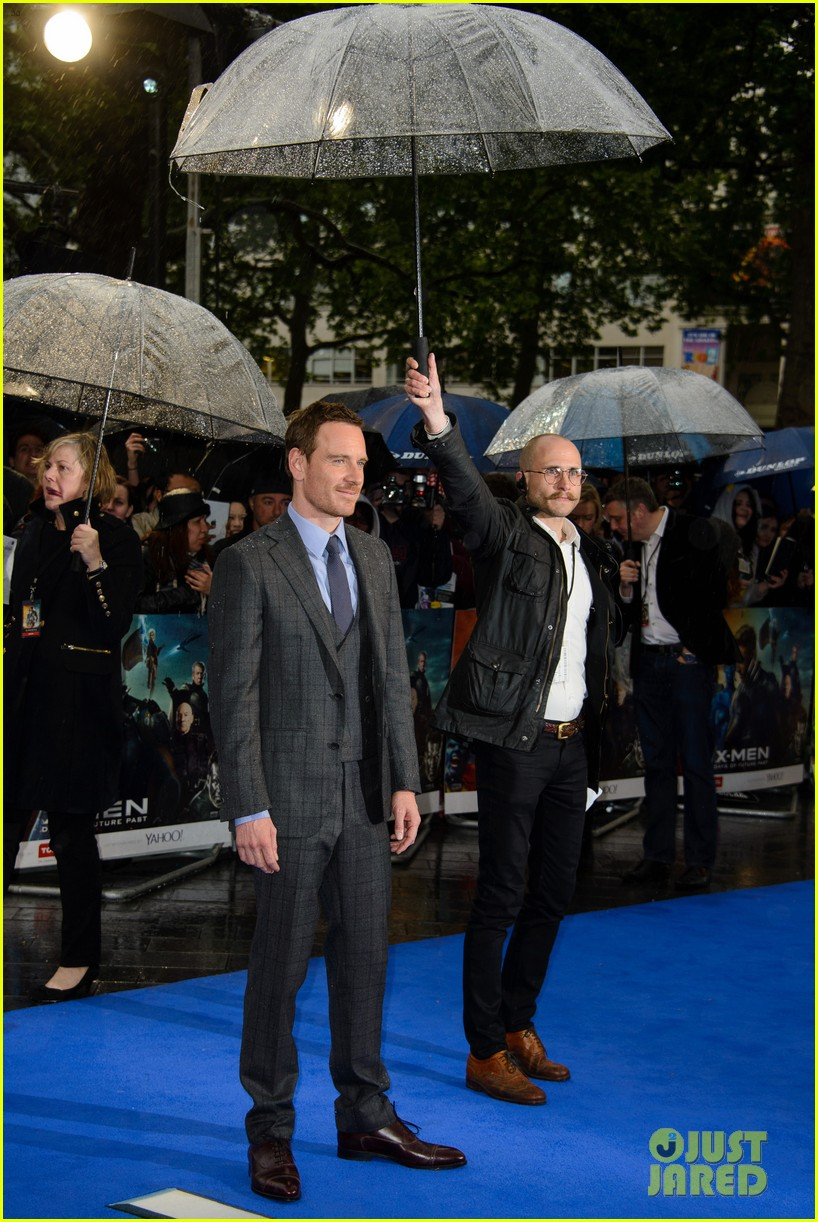 michael fassbender james mcavoy x men london premiere 12
