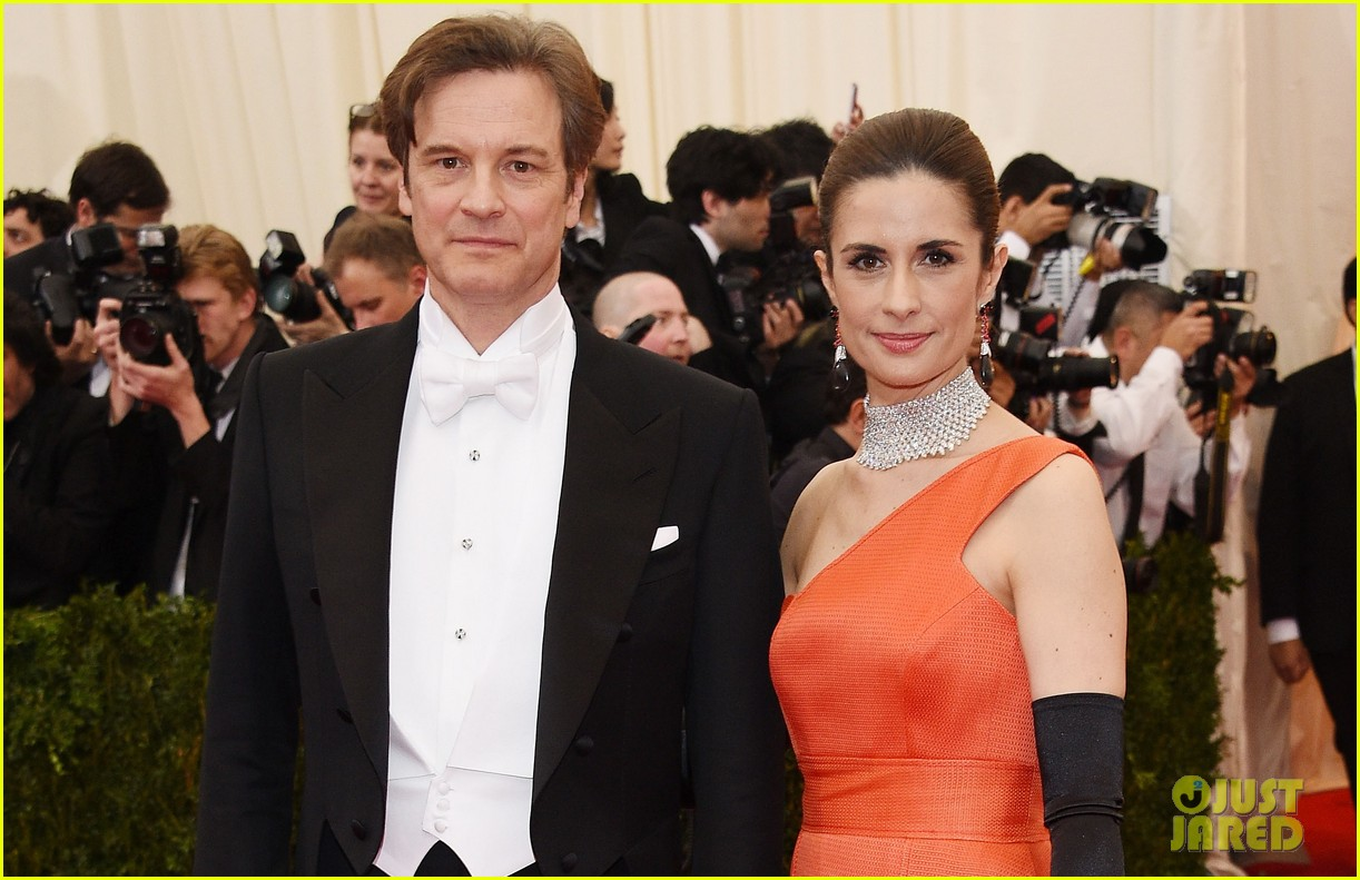 colin firths wife livia stares lovingly at her husband at met ball 2014 02